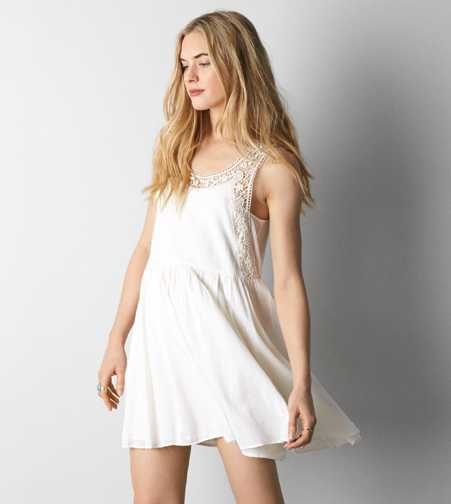 AEO Lace Cutout Fit & Flare Dress