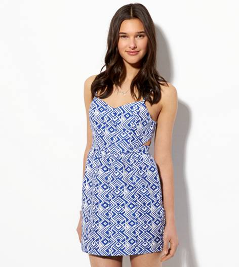 Blue AE Cutout Jacquard Sundress
