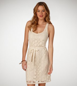 AE Crocheted Floral Tank Dress
