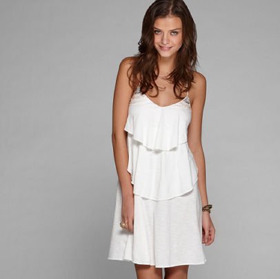 AE Beaded Ruffle Dress American Eagle Outfitters from ae.com