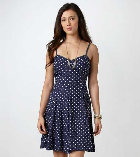 AE Polka Dot Skater Corset Dress