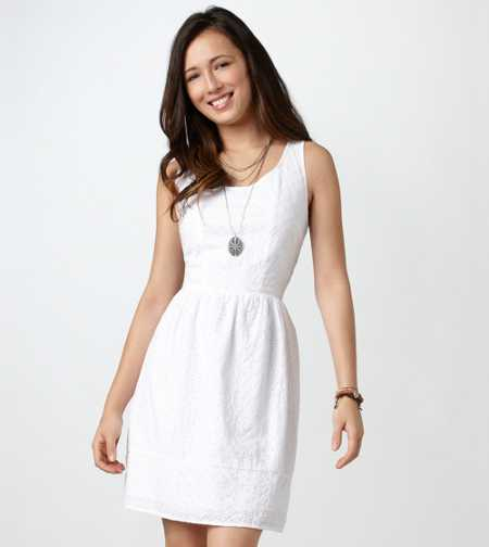 AE Eyelet Cutout Dress