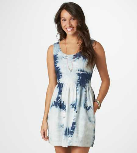 AE Tie-Dyed Denim Dress