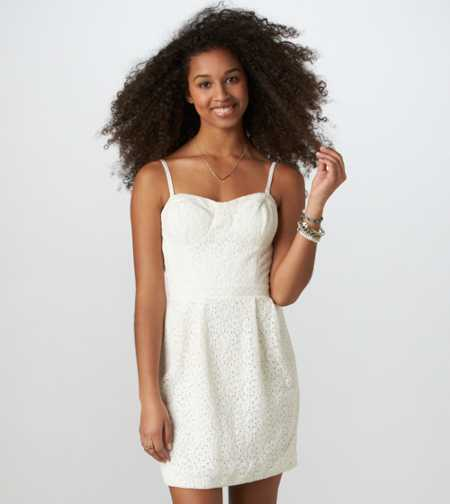 AE Floral Eyelet Corset Dress - Take 40% Off