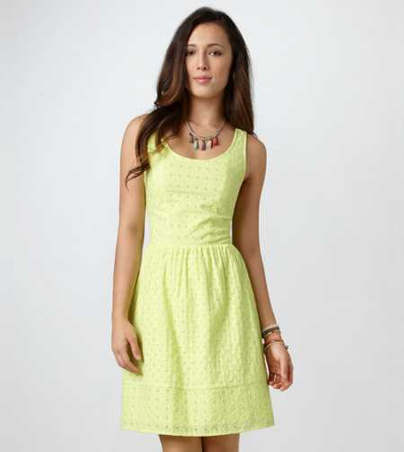 AE Eyelet Cutout Dress - Take 40% Off