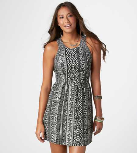 AE Printed Cutout Dress
