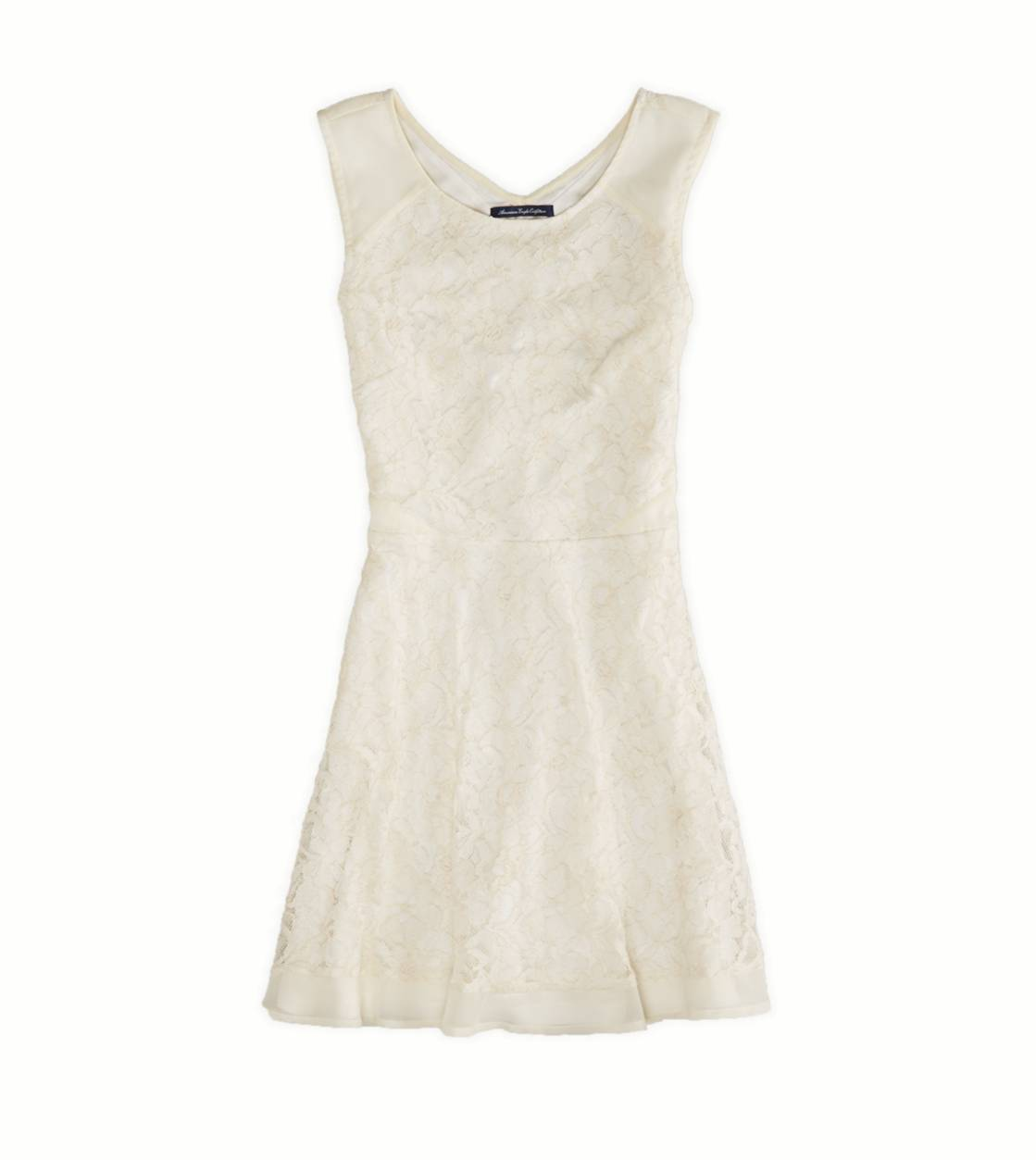 Cream AE Lace & Chiffon Party Dress
