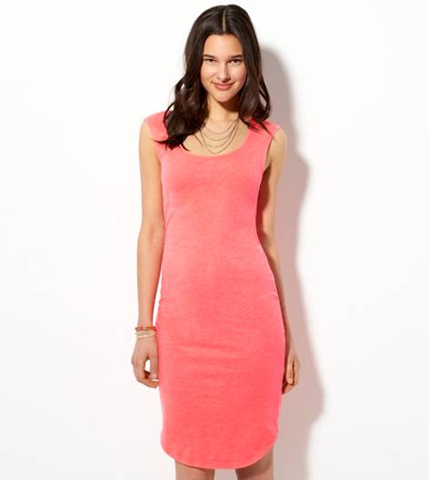 Neon Paradise AE Bodycon Midi Dress