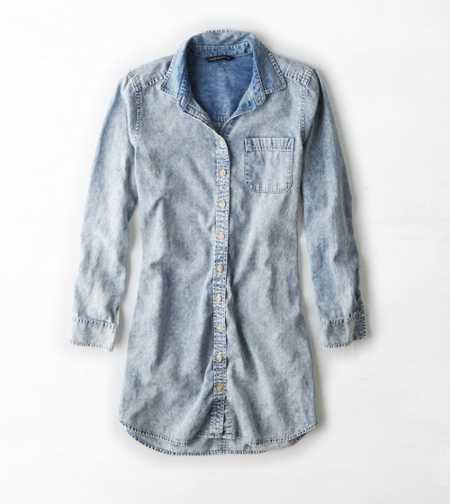 AEO Chambray Shirt Dress