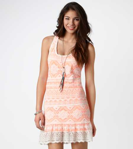 AE Crocheted Neon Tank Dress