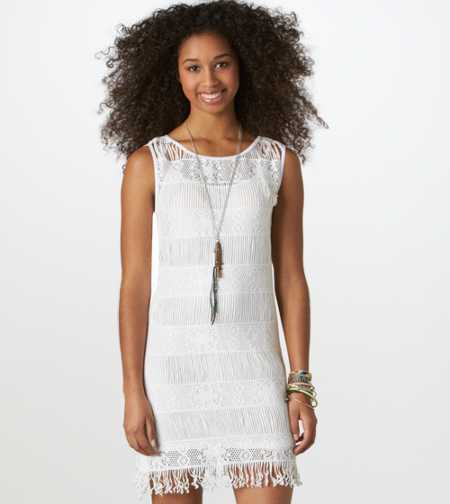 AE Crocheted Festival Dress - Take 40% Off