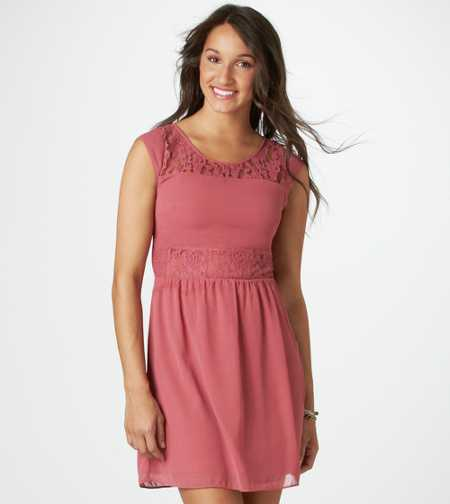 AE Paneled Lace Dress