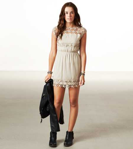 AE Crochet Cinch Dress