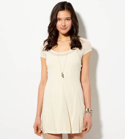 Creme Brulee AE Short Sleeve Sweater Dress