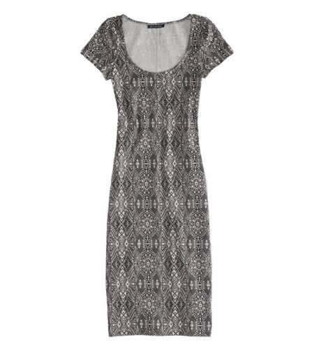 AE Printed Bodycon Midi Dress