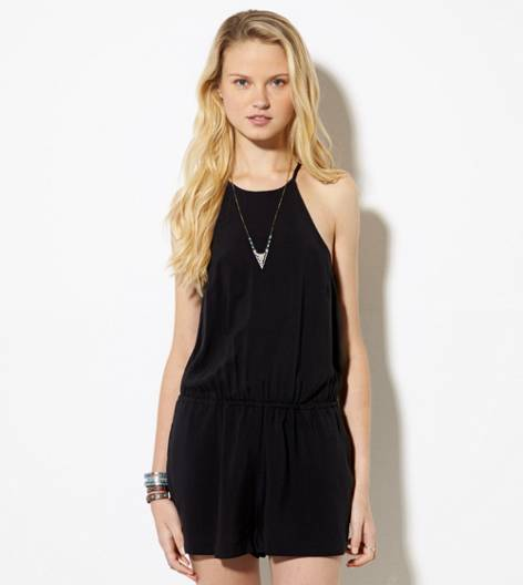 Black AE Soft Romper