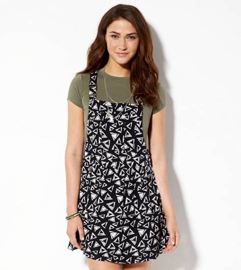 Black AE Soft Printed Dress-all