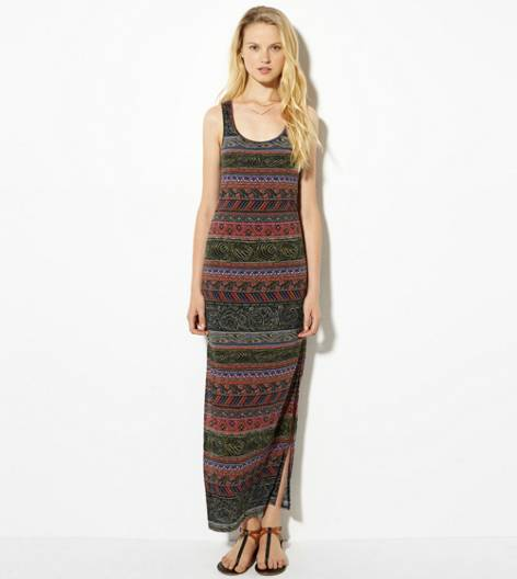 Pink AE Printed Racerback Maxi Dress