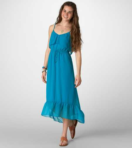 AE Ruffled Chiffon Maxi Dress