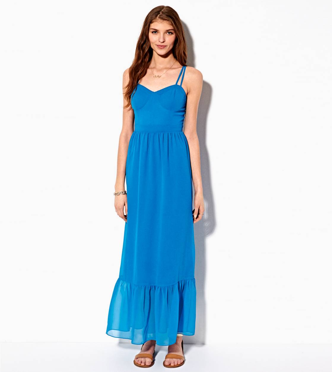 Blue AE Corset Maxi Dress