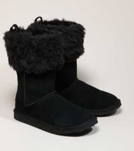 AEO Faux Fur Cuffed Boot