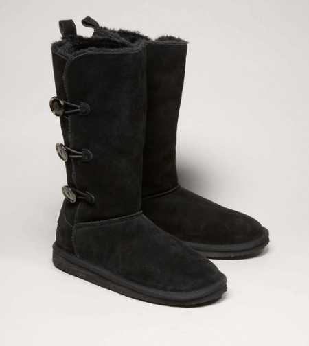 AEO Tall Button Warm & Fuzzy Boot