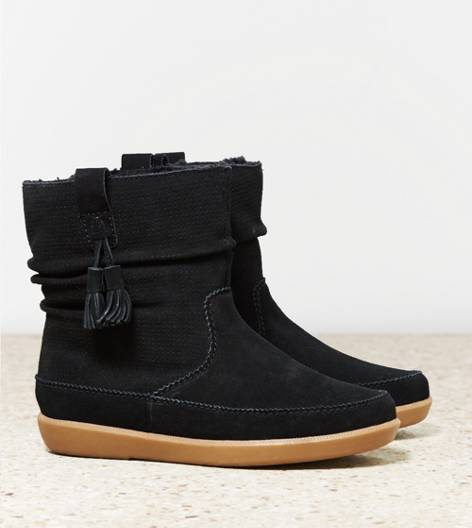 Black AEO Slouchy Cozy Boot