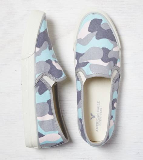 Light Blue AEO Slip-On Sneaker