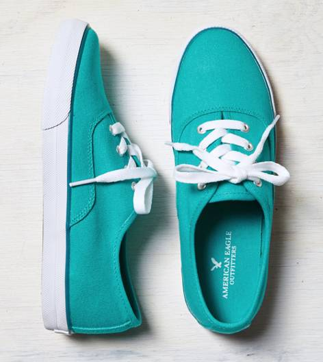 Teal AEO Lace-Up Sneaker