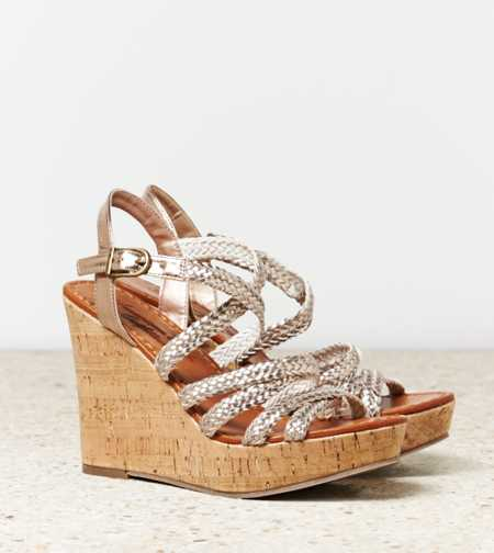 AEO Braided Wedge Sandal - Free Shipping On Shoes