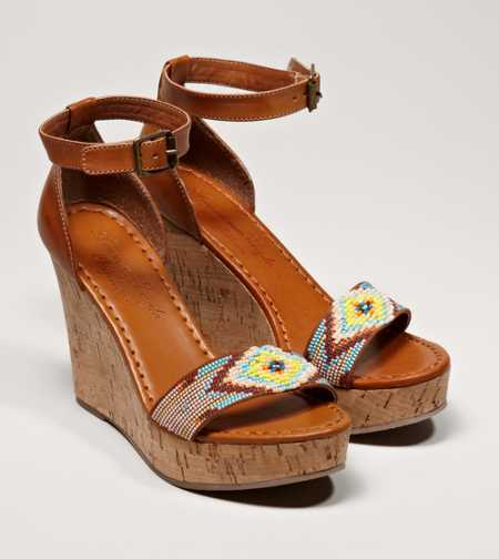 AEO Beaded Wedge Sandal - Free Shipping On Shoes