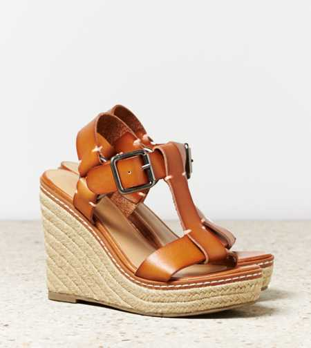 AEO T-Strap Wedge Espadrille - Take 40% Off