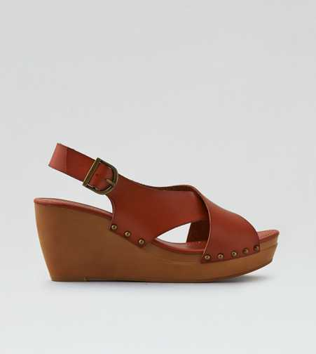 AEO Cross-Band Wedge Sandal  - Free Shipping