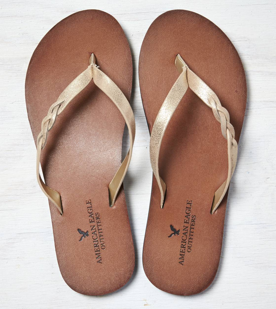 Gold AEO Braided Flip-Flop