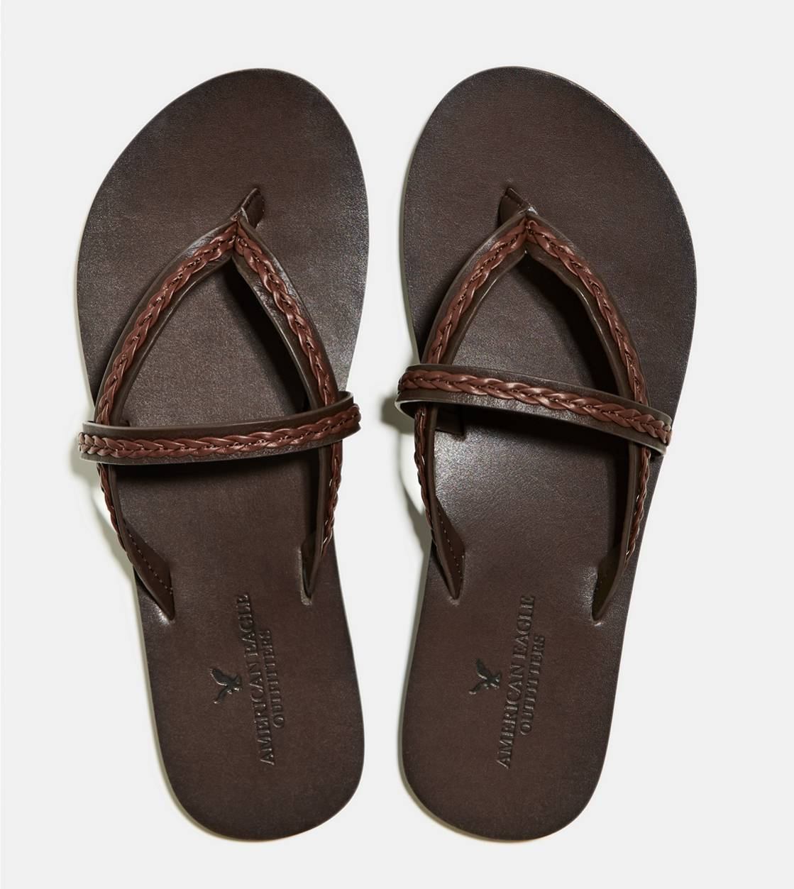 Dark Brown AEO Braided Sandal