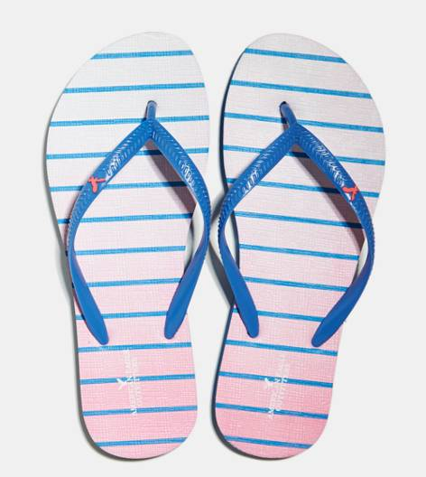 Light Blue AEO Printed Rubber Flip Flop