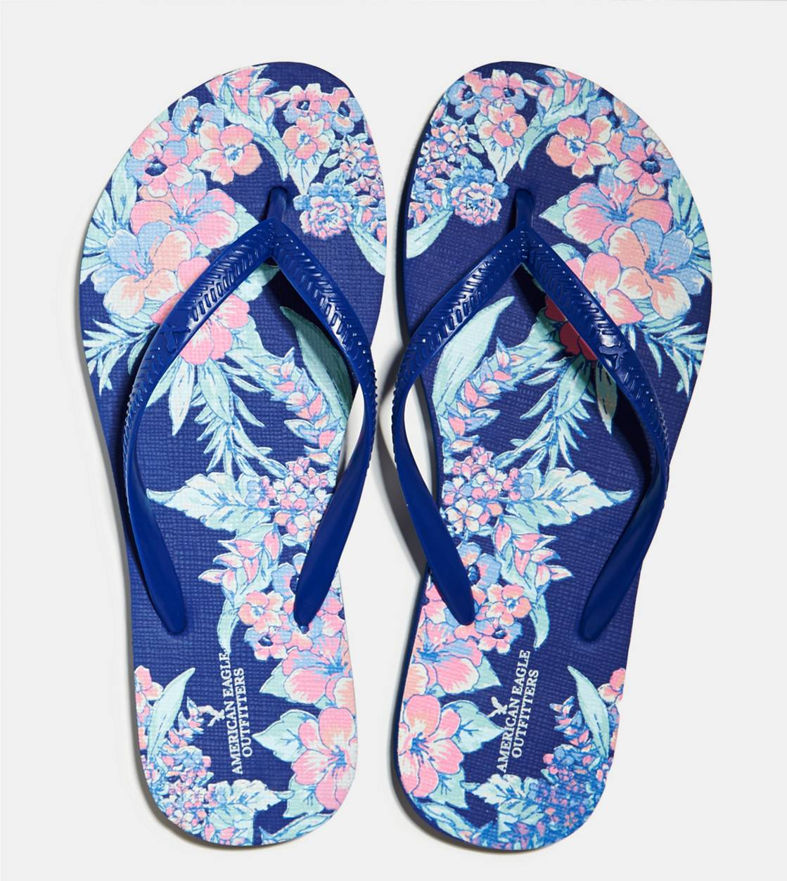 Electric Cobalt AEO Printed Rubber Flip Flop