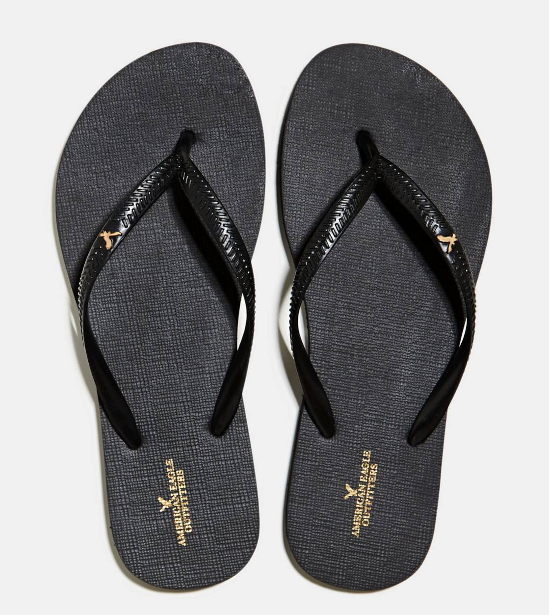 True Black AEO Rubber Flip Flop