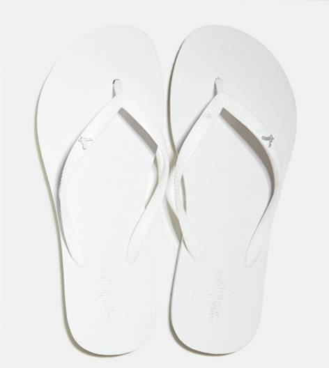 Natural White AEO Rubber Flip Flop