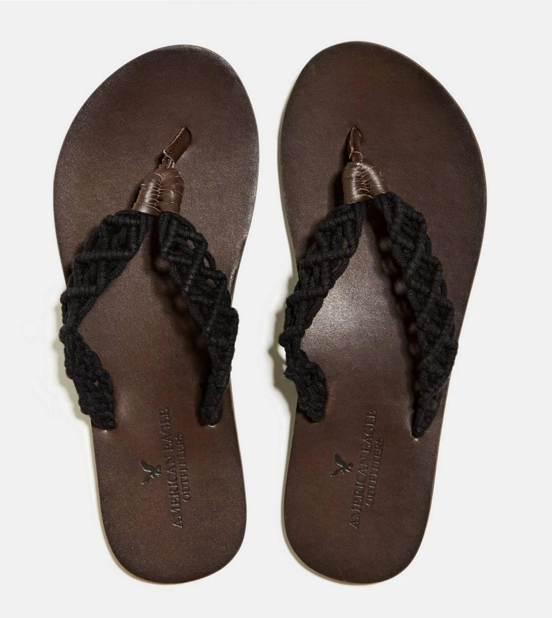 Black AEO Crocheted Flip-Flop