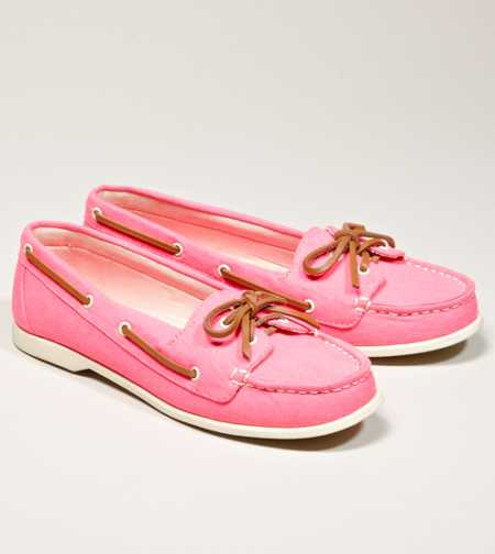 AEO Canvas Boat Shoe - Take 40% Off