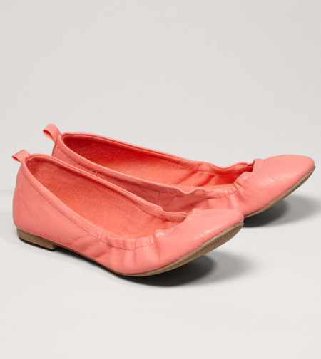 AEO Scrunched Ballet Flat - Free Shipping On Shoes