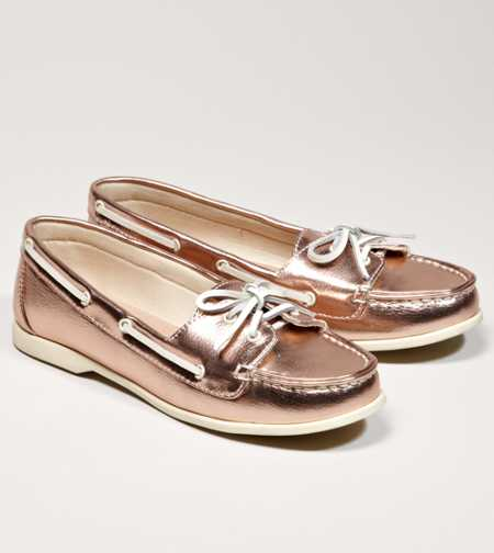 AEO Metallic Boat Shoe - Take 40% Off