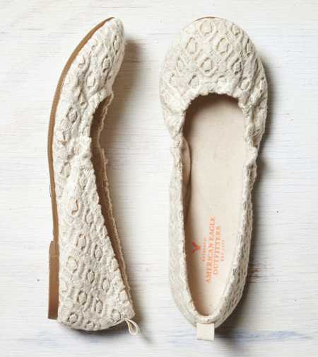 AEO Crocheted Ballet Flat - Take 40% Off