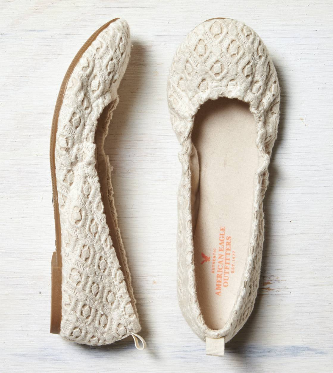 Natural AEO Crocheted Ballet Flat