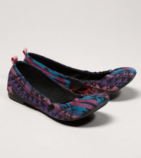 AEO Embroidered Ballet Flat