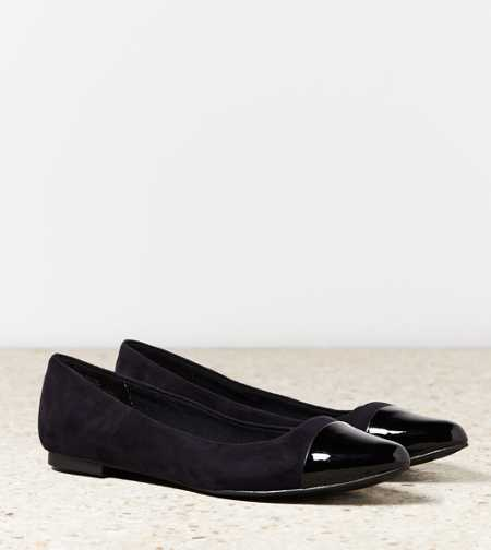 AEO Metallic Cap Toe Flat - Take 40% Off