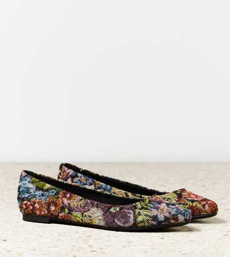 AEO Tapestry Pointed Toe Flat