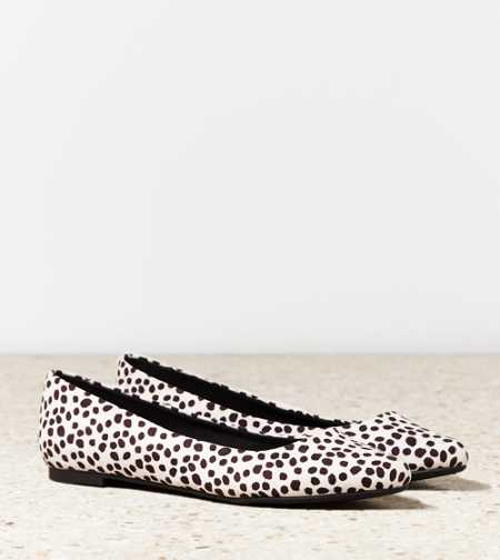 AEO Animal Print Pointed Toe Flat