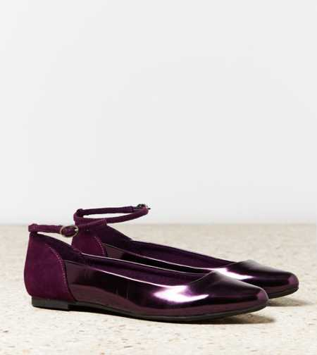 AEO Ankle Strap Pointed Toe Flat